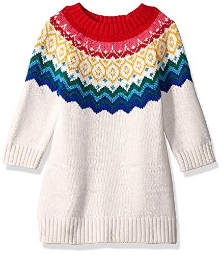 Gymboree Baby Girls Sweater Dress, Rainbow fair isle 12-18 - Fair Dress Isle Sweater