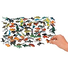Ocean Animals 2.25 Inches - Pack Of 90 –Assorted Ocean Figures Aquatic Animal Toys – For Kids Great Party Favors, Bag Stuffers, Fun, Toy, Gift, Prize – By Kidsco