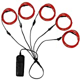 Ourbest El Wire Red 3ft Neon Lights Electroluminescent Wire Battery Pack for Halloween