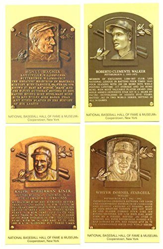 2005 Cooperstown Hall of Fame Plaque Postcards PITTSBURGH PIRATES