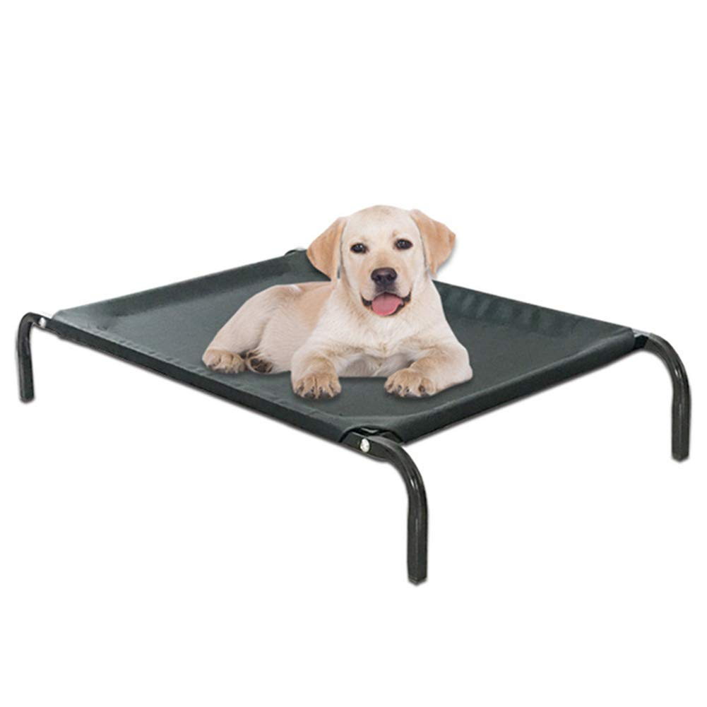 Medium Elevated Dog Bed, Outdoor Pet Bed Durable Oxford Cloth Waterproof and Breathable Portable Camping or Beach Black Available in A Variety of Sizes