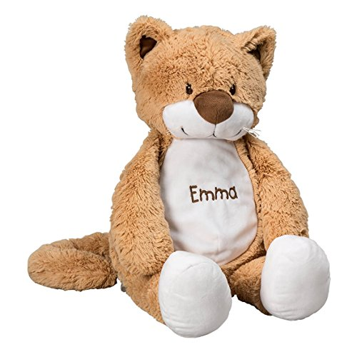 Personalized Stuffed Cat – Large Plush Stuffed Animal with Embroidered Child Baby Name – 24 inch - Gift