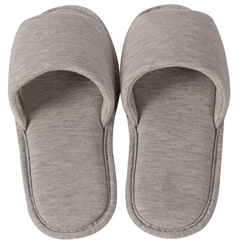 Slipper Open Indoor Cozy Slip Home Foam House Light Casual Memory Women's on Toe Slippers Grey Shoes IHqHUnd