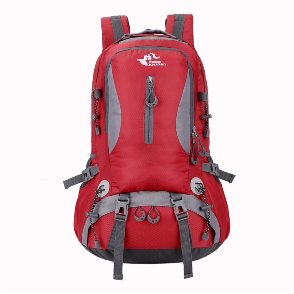 rouge  40L Mountaineebague Sac à Dos en Plein Air Léger Vélo Sac à Dos Escalade Randonnée Sac à Dos Voyage Sport Daypack Camping Trekking Sac à Dos avec la Pluie Couvercle étanche