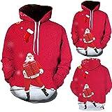 DBHAWK Mens Sweatshirt Ugly Christmas 3D Printed Hoodie with Kangaroo Pocket Clearence Sale