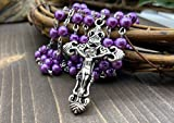 Nazareth Store Catholic Rosary Purple Pearl Beads