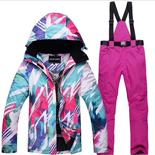 Giacca color Sci Size 07 Snowsuit 07 E Winter Donna Pantaloni Jiuyizhe Suit Snow Outdoor M Da Set C1XqwBH7