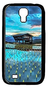 The Beauty of The Land DIY Hard Shell Black Designed For Samsung Galaxy S4 I9500 Case