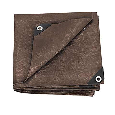 Stansport Reinforced Brown Rip-Stop Tarp, 5 x 7-Feet (Exterior Doors With Side Lights)