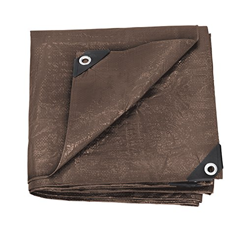 (Stansport U-57 Reinforced Rip-Stop Tarp, Brown - 5' x 7')