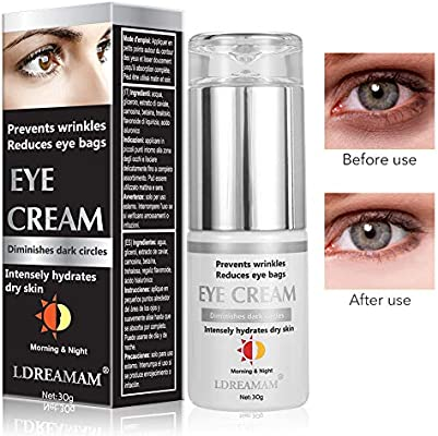 Crema de Ojos,Crema para los Ojos,Contorno de Ojos Anti Edad,Eye Cream,Serum Contorno de Ojos Anti arrugas, Elimina la hinchazón, las ojeras, líneas ...
