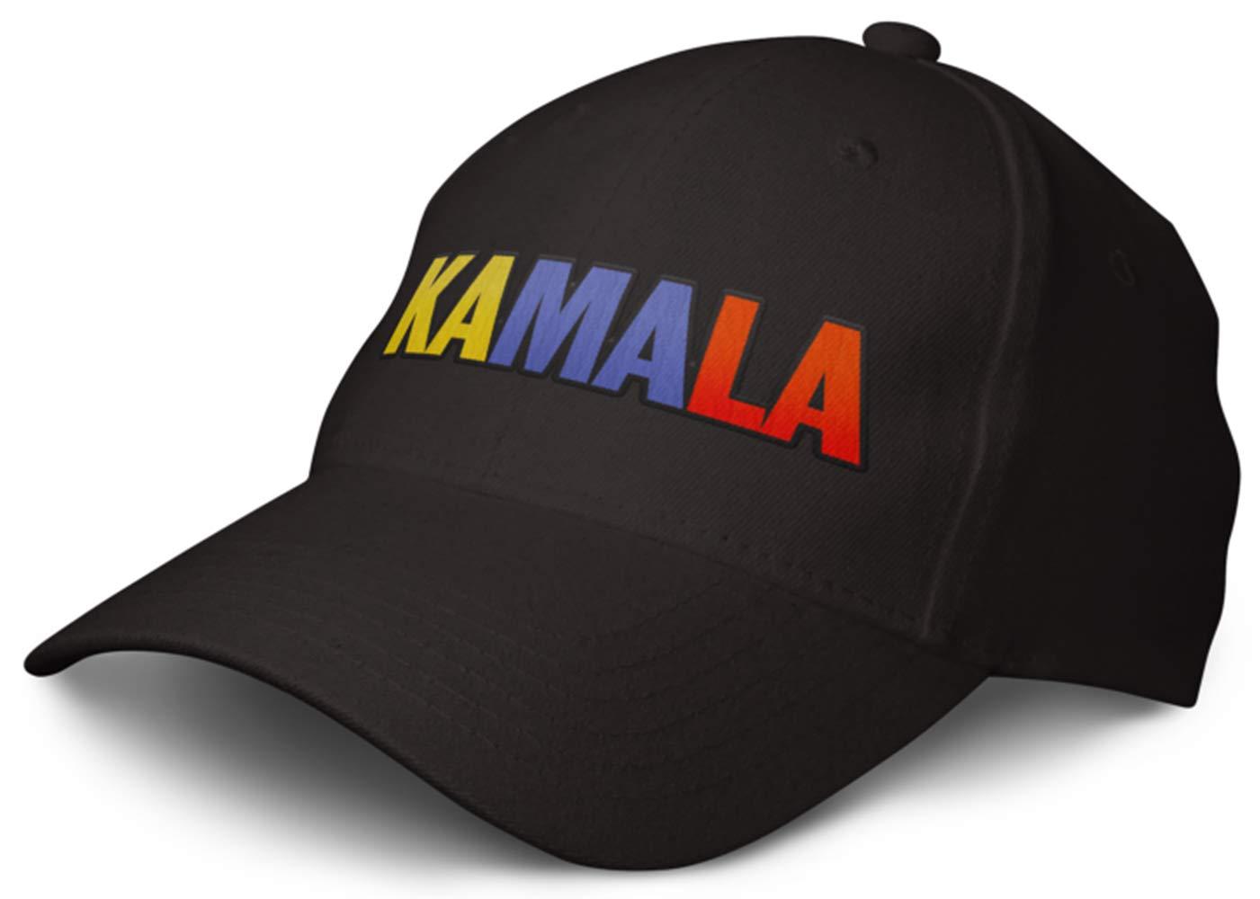 KamalaHarris President 2020 Cap: Kamala Black 6 Panel Structured Adult Baseball Cap