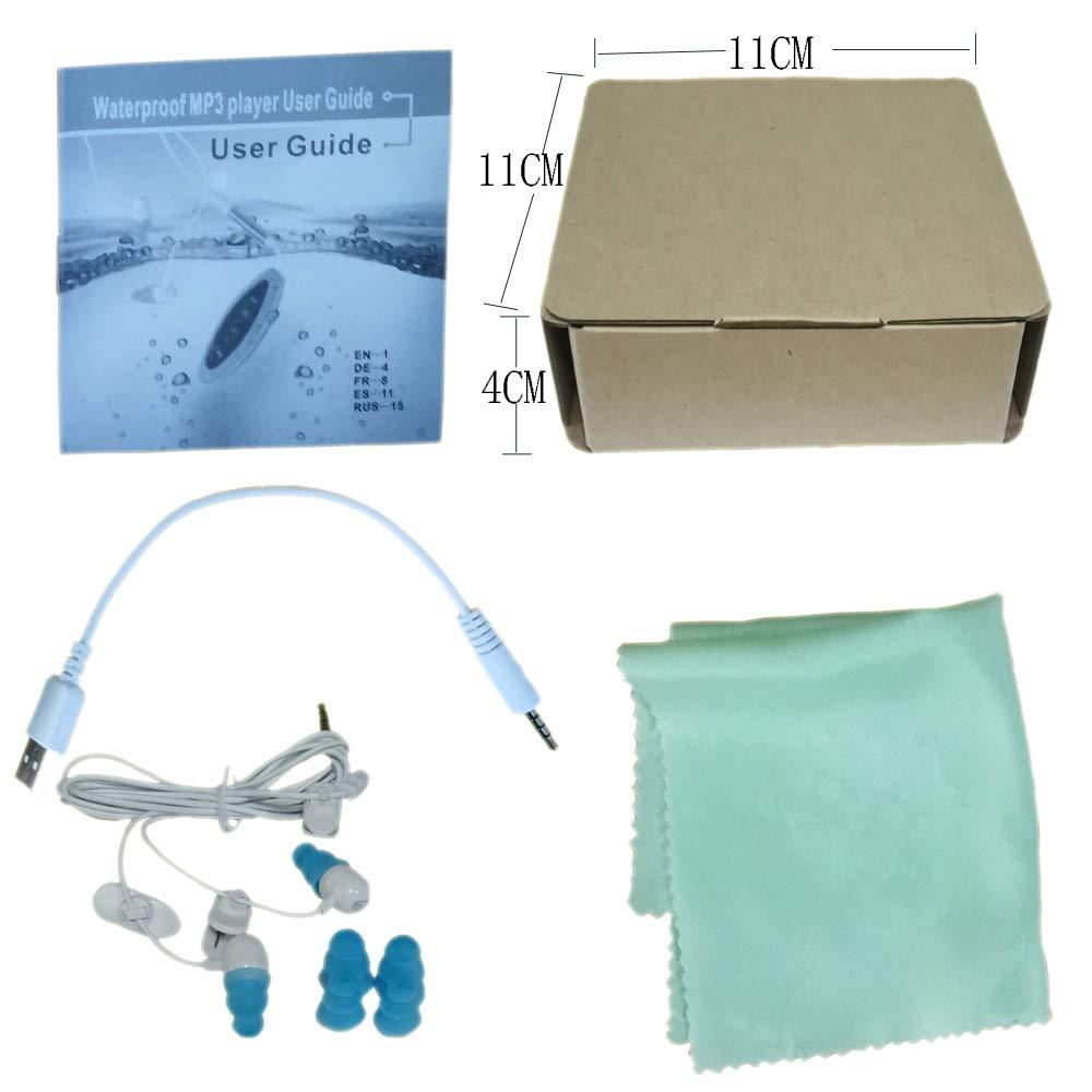 Gamogo Reproductor de m/úsica MP3 CJX601 de 4GB IPX8 a Prueba de Agua con Auriculares Dise/ño de Clip de Radio FM para Nadar Running Diving Black
