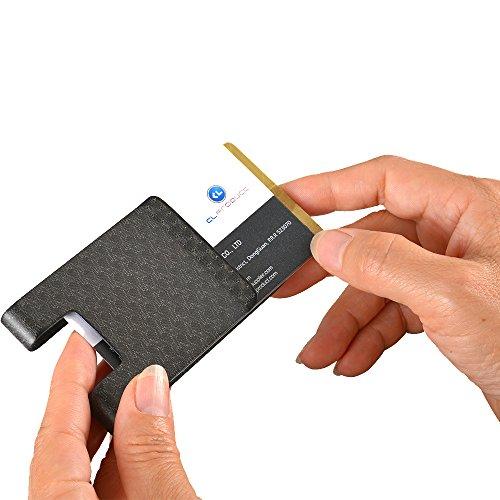 Holder Pattern - Carbon Fiber Money Clip Wallet-CL CARBONLIFE Business Card Holder RFID Protector Credit Card Holder Wallet Clips For Men(Pattern Matt)