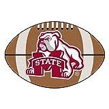 Fanmats NCAA Mississippi State University Bulldogs Nylon Face Football Rug