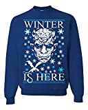 Winter is Here Game of Thrones Ugly Christmas Sweater Unisex Sweatshirt Royal Blue XL