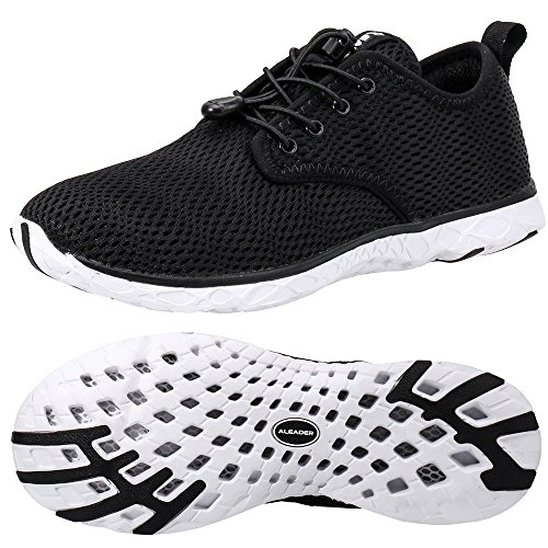 Water Boating (ALEADER Men's Xdrain Classic 3.0 Water Shoes Black/White 11 D(M) US)