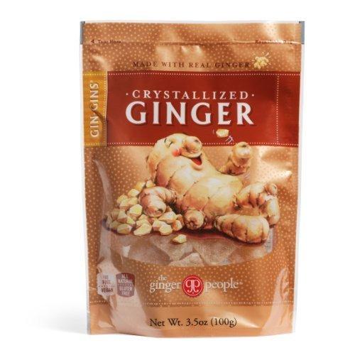 Ginger People Crystallized Ginger - Gin Gins Crystallized Ginger Candy 3.5oz Bag 6-Pack