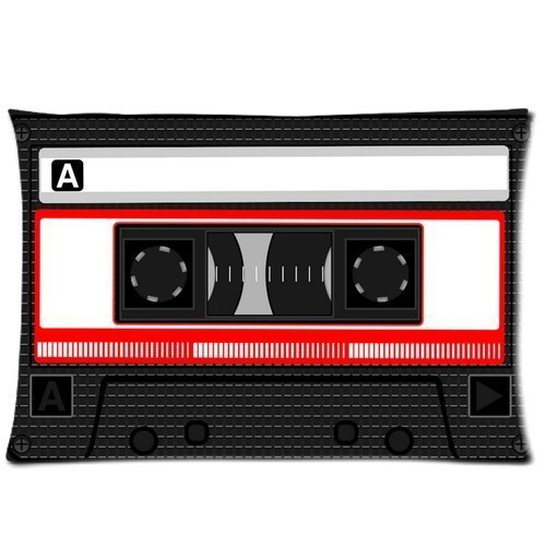 Nymeria 19 Cassette Tape Diy Design Zippered Pillow Case Covers 20X30 (One Side) GA-671