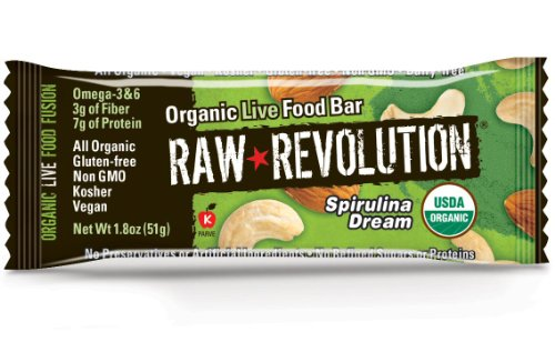 Raw Revolution Organic Live Food Bars Spirulina Dream 1.8-Ounce Bars (Pack of 12)