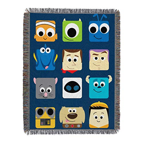 "Disney-Pixar ""Pixarland"" Woven Tapestry Throw Blanket, 48"" x 60"", Multi Color, 1 Count"