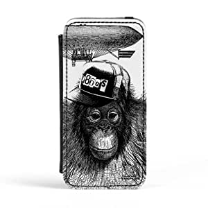 1860's Ape Premium Faux PU Leather Case, Protective Hard Cover Flip Case for Apple? iPhone 5 / 5s by Gangtoyz + FREE Crystal Clear Screen Protector