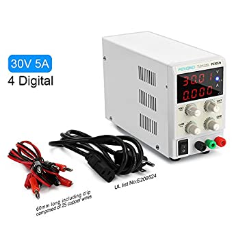 dc bench power supply variable pevono ps305h 0 30v 0 5a 4 digital rh amazon com