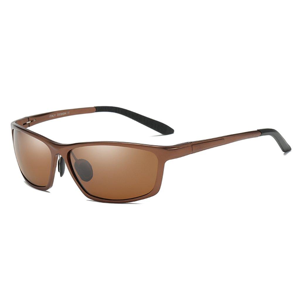 LUHUIYUAN Occhiali Da Sole Polarizzati In Alluminio Magnesio Da Uomo Con Occhiali Sportivi Da Guida, Black