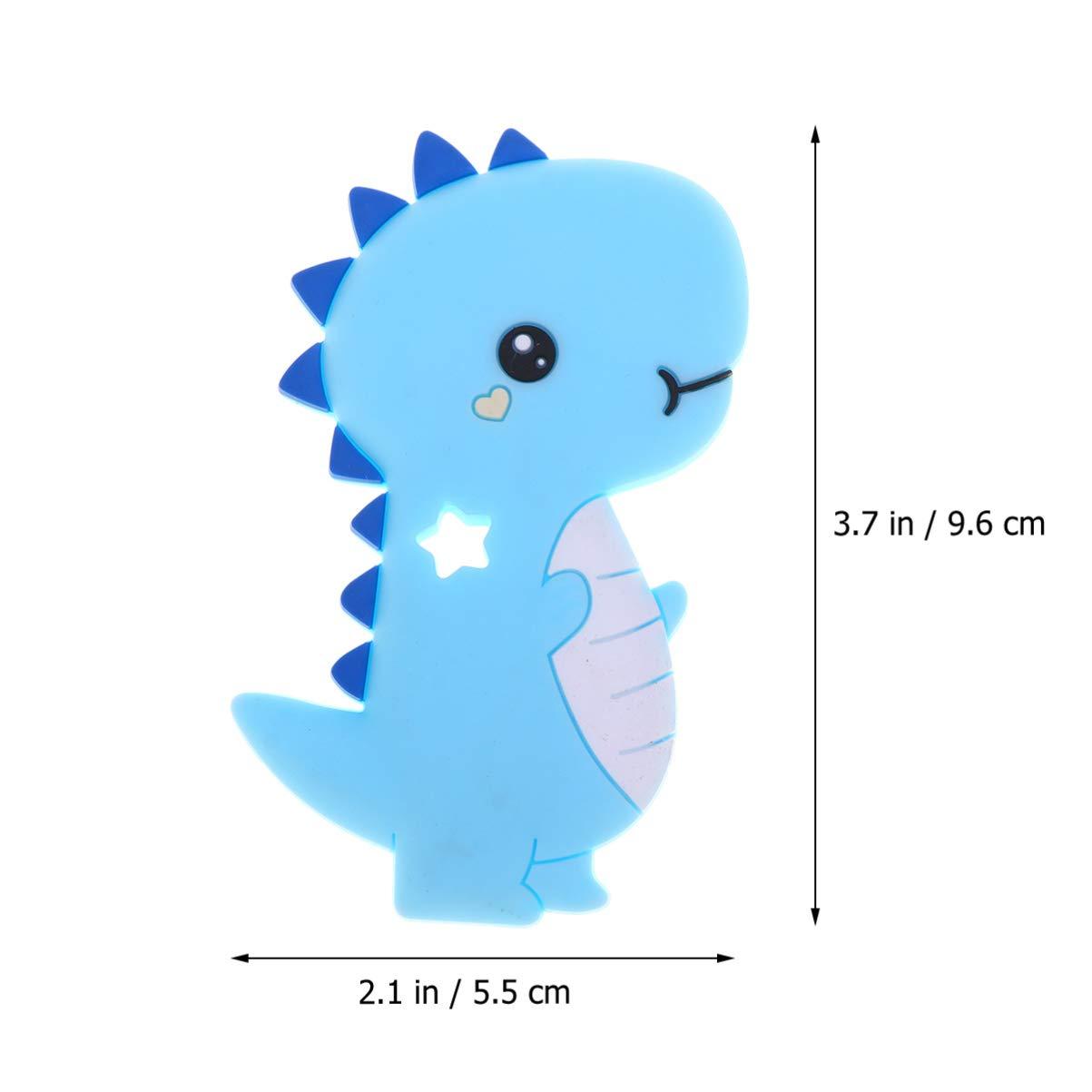 Healifty baby teether collana a forma di cane carino collana di cura in silicone massaggiagengive masticare giocattoli per neonati neonato doccia regali blu