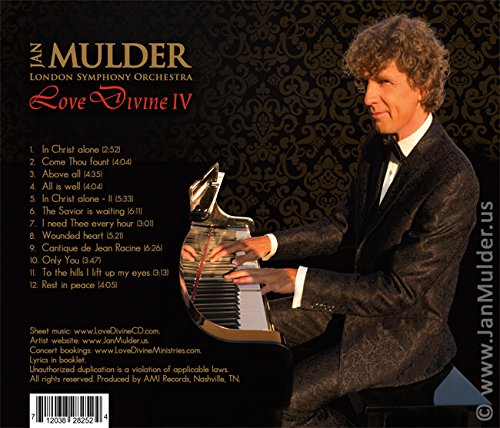 Love Divine 4: instrumental sacred music CD by pianist Mulder & London Symphony Orchestra (In Christ Alone, Come Thou fount, Above All - composed by Michael W. Smith, All is well, and others)