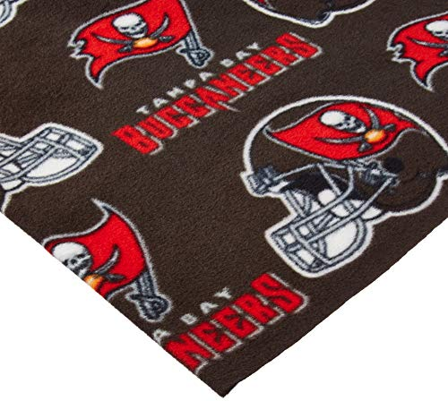 Fabric Traditions NFL Fleece Tampa Bay Buccaneers Black Fabric by The Yard,