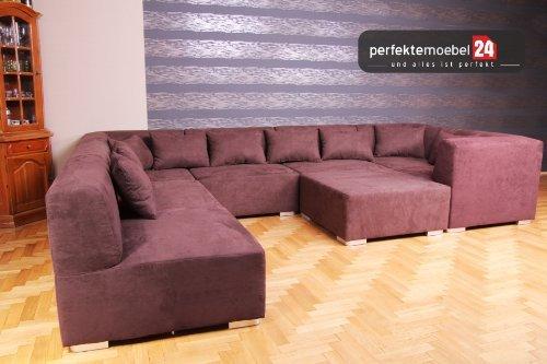 MultiMega 8 Couchgarnitur Sofa Polsterecke Wohnlandschaft Sofa kurze Lieferzeit (gobi)