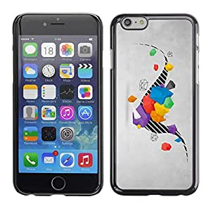 Planetar® ( Drawing Stripes Abstract Grey Gray ) Apple (5.5 inches!!!) iPhone 6+ Plus / 6S+ Plus Fundas Cover Cubre Hard Case Cover