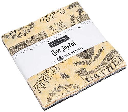 (Bee Joyful Charm Pack by Deb Strain; 42-5 Inch Precut Fabric Quilt Squares )