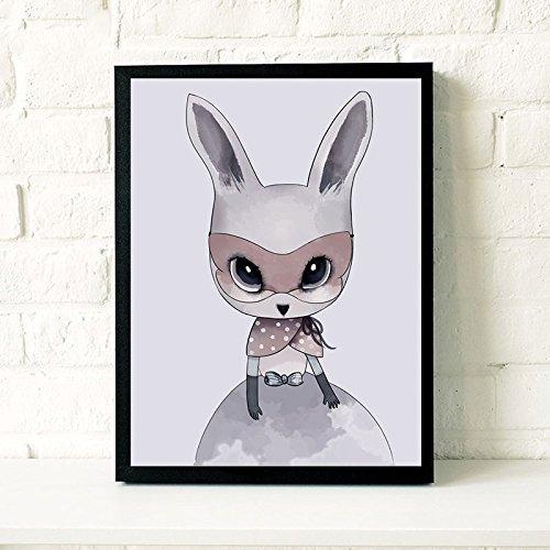 raybre arte dibujo animado conejo perchero de las gafas ...