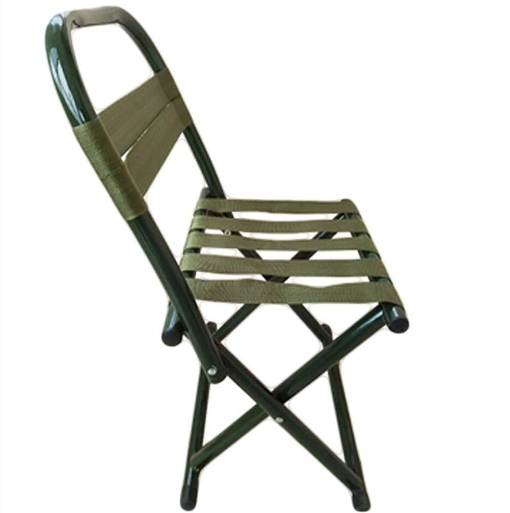 JaHGDU Folding Chair High-end Back Outdoor Fishing Casual Stool Portable Folding Metal Chair Indoor Space-Save Leisure Chair