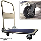Lavohome Super Heavy Duty Platform Truck Hand Cart - Folding Collapsible Warehouse Dolly - 660 Lbs Capacity