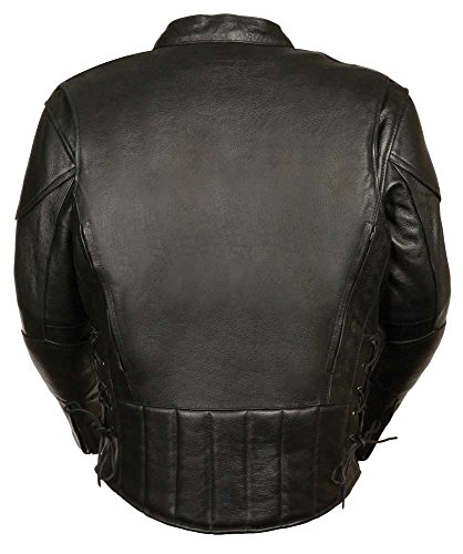 C1010 Mens Biker Leather Jacket –Vents Size 2X by LEATHER KING (Image #2)'