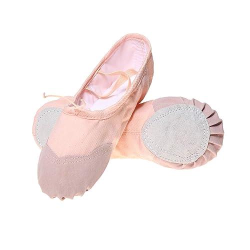 DoGeek Ballet Shoes Girls Canvas Ballet