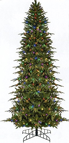 Gki Bethlehem Lighting Led - Bethlehem Lighting GKI Pre-Lit Slim Palisade Artificial Christmas Tree with Multicolored LED Lights, 6'
