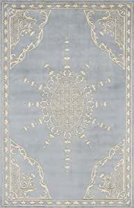 "Momeni Rugs HARMOHA-31IBL3656 Harmony Collection, Traditional Area Rug, 3'6"" x 5'6"", Honeycomb"