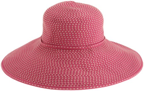 San Diego Hat Company Women's Ribbon Braid Hat With 5 Inch Brim,Fushcia,One - Hat Braid