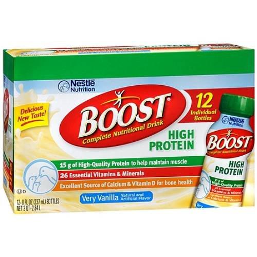 Boost Original Complete Nutritional Drink Vanilla Delight: Amazon.com : Boost Hi Protein Creamy Strawberry Ready To