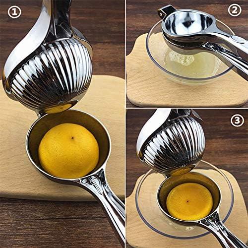 Hywot Manual exprimidor de cítricos de limón SqueezerEasy de Usar y Limpiar - Anti corrosivo Segura