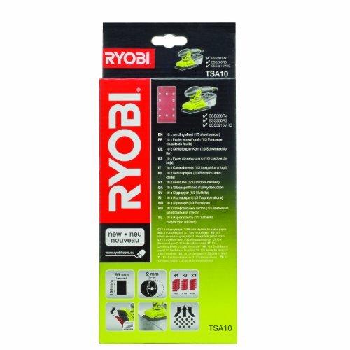 Ryobi TSA10 Assored 1/3 Sheet Sanding Pads for all 1/3 Sheet Sanders -Set of 10 by Ryobi