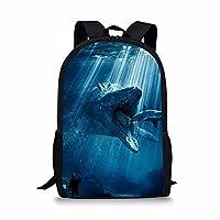 Xinind Cool Printing Bag,Dinosaur Pattern Backpack,Durable Traver Bag Polyester Daily Bag For Boys Girls Study Bag