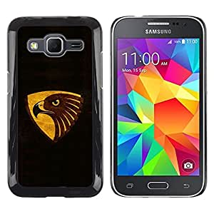 LECELL -- Funda protectora / Cubierta / Piel For Samsung Galaxy Core Prime SM-G360 -- Cool Black Brown Gold Eagle --