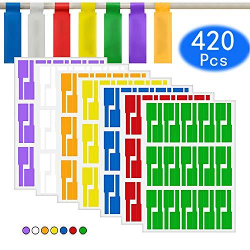 - Cable Labels Tags Stickers Wire Cord Labels Waterproof Self-Adhesice Markers Fit for Laser Printer & Handwriting 7 Color 14 Sheets 420Pcs