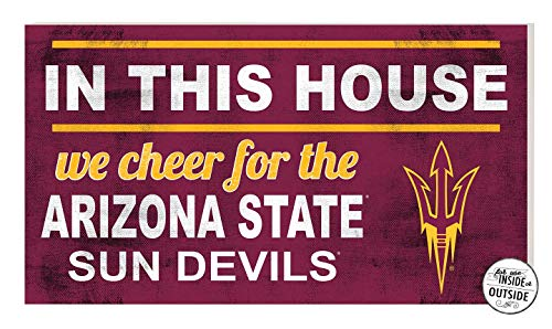 - KH Sports Fan 20x11 in\Outdoor Sign in This House Arizona State Sun Devils