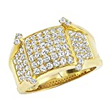 Mens Unique 14K Gold Diamond Band Pinky Ring 1.75ctw (Yellow Gold, Size 11)